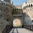 Tower gate of stone fortress, Belgrade — Stock Photo