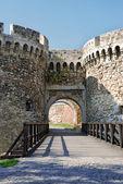 Tower gate of stone fortress, Belgrade — Stock Photo