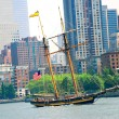 Sailing ship in New York — Stock Photo