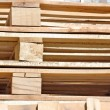 Cargo wooden pallets - Stock Photo