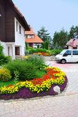 Cottage village in resort — Stock Photo