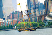 Sailing ship in New York — Stock Photo