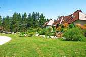 Cottage village — Stock Photo