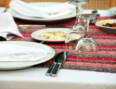 Table for dinner — Stock Photo