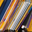 Stock Photo: Notebooks on shelf