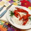 Crayfish meal - Stock Photo
