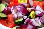 Various cut vegetables — Stock Photo