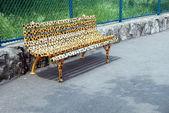 Animal designed bench — Stock Photo