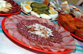 Appetizing meat dishes — Stock Photo