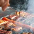 Meat on barbecue — Stock Photo