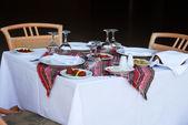 夕食のテーブル — ストック写真