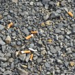 Scattered cigarette butts — Stock Photo