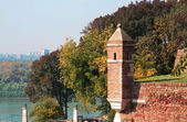 Details old stone fortress Kalemegdan in Belgrade — Stock Photo