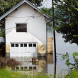 Flood - house in water — Stock Photo