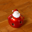 Christmas candlestick on parquet floor — Foto Stock #3476234