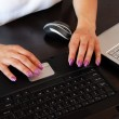 Female hands on keyboard — Stock Photo #3547561