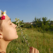 Young girl portrait outdoor — Stock Photo