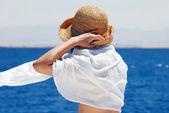 Woman on seaside — Stock Photo