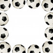 Soccer balls - frame — Stock Photo