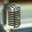 Vintage Microphone in music studio — Stock Photo #3242701