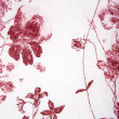 Stock Photo: Red plants flower fabric texture