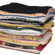 Stock Photo: Stack of colored t-shirts