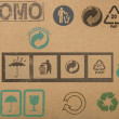 Different symbols from cardboard boxes — Stock Photo #3419782