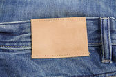 Jeans label — Stock fotografie