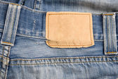 Denim label — Stock Photo