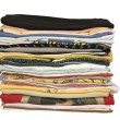 Stock Photo: Stack of colored t-shirt