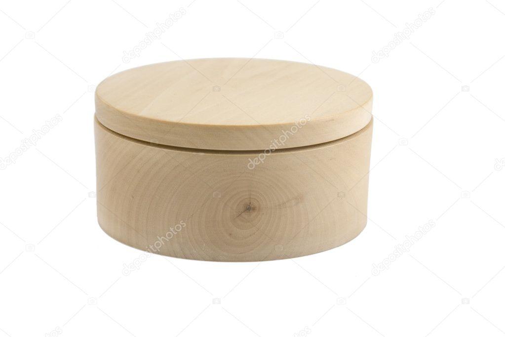Wooden round box stock photo victoro 3439685 for Circular wooden box
