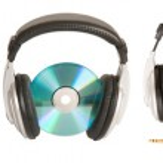 Front view of dj headphones — Stock Photo #3459112