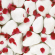 Red rosse petals on white pebbles — Stock Photo