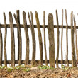 Old and rough wooden fence — Stock Photo