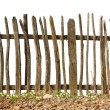 Old and rough wooden fence - Stock Photo