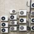 Air conditioner machines on wall — Stock Photo