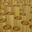 Columns of gold coins — Stock Photo