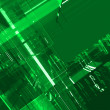 Abstract green matrix luminous background — ストック写真