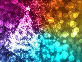 праздник lightschristmas дерево — Стоковое фото