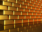 Gold wall — Stock Photo