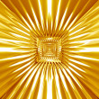 Abstract gold tracery pattern — Stock Photo