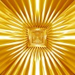 Stock Photo: Abstract gold tracery pattern