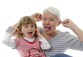 Grandma and granddaughter — Stock Photo