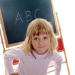 Little girl and ABC — Stock Photo #3661990
