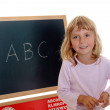 Stock Photo: Little girl and ABC