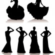 Beauty girls silhouette — Stock Vector #2685139