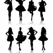 Beauty girls silhouette — Stock Vector #2685143