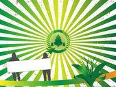 緑の木のイラストを使用します — ストックベクタ