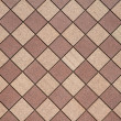 Brown Checkered wall horizontal — Stock Photo