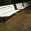 Row of White Benches — Stock Photo #3712829